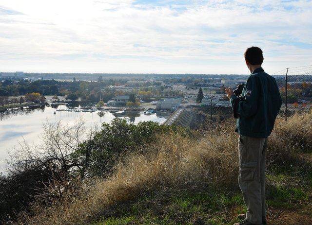 Willy overlooks Nimbus Dam