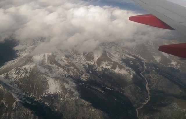 Ypsilon Mountain from the air