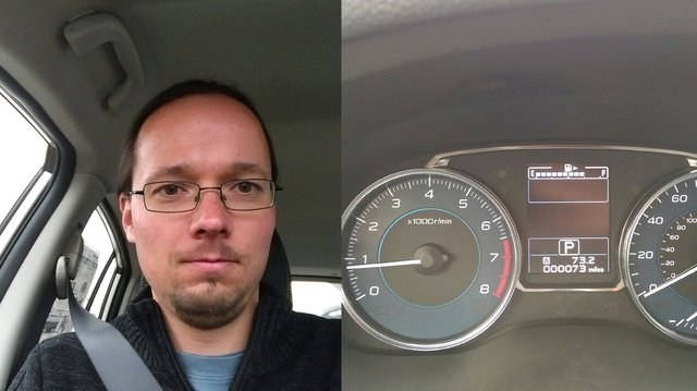 Jaeger prepares to test-drive a Subaru Impreza Limited