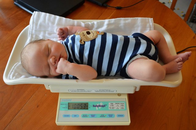 Julian naps in the baby scale