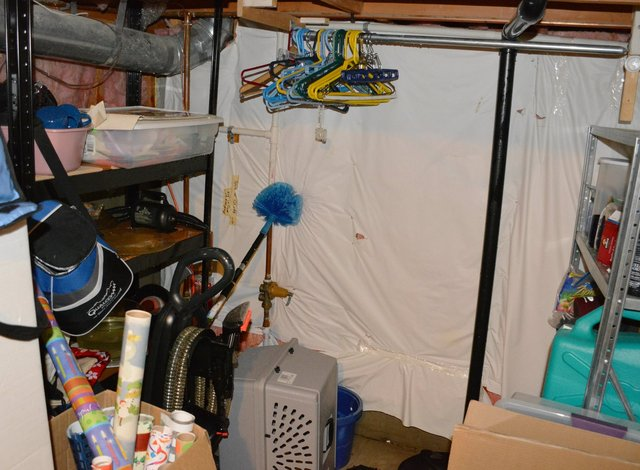 Basement utility room drenched after sump flood
