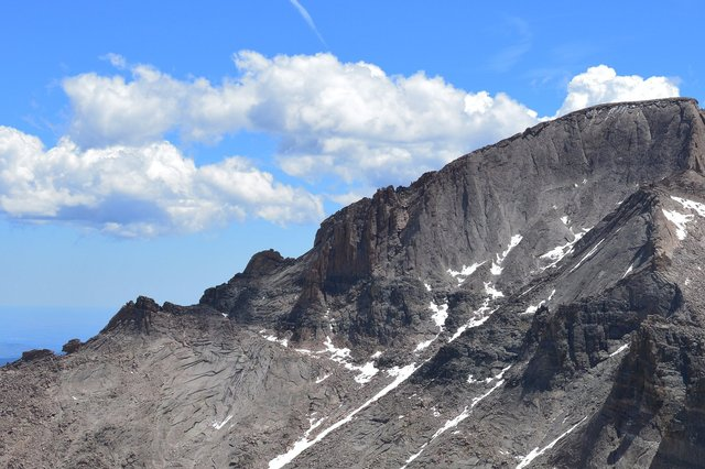 The Keyhole and Keyhole Ridge on Longs Peak