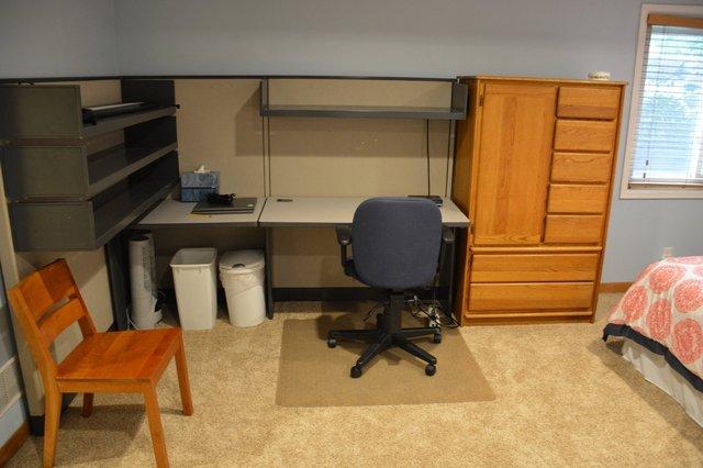 Basement guest room set up for au pair