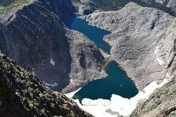 Spectacle Lakes from Ypsilon Mountain