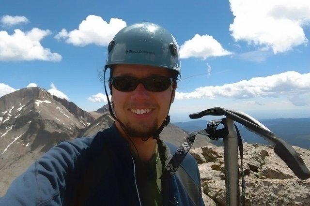 Jaeger on top of Chiefs Head Peak