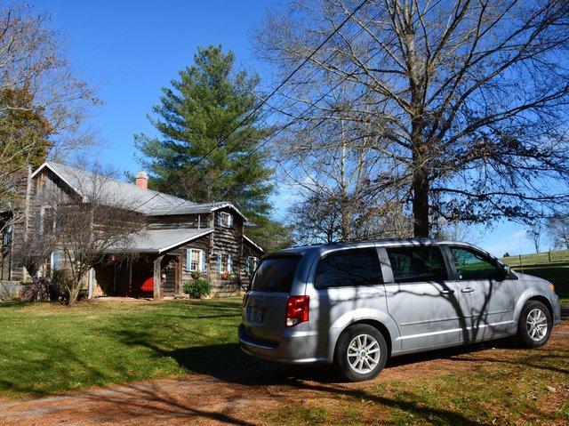 Cabin and minivan near Rogersville Tennessee