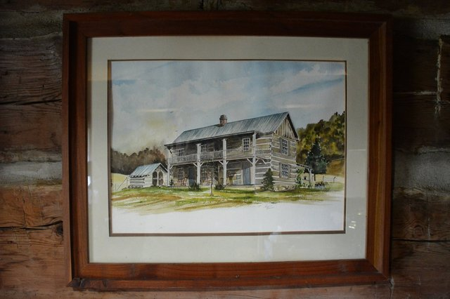 Painting of cabin near Rogersville Tennessee