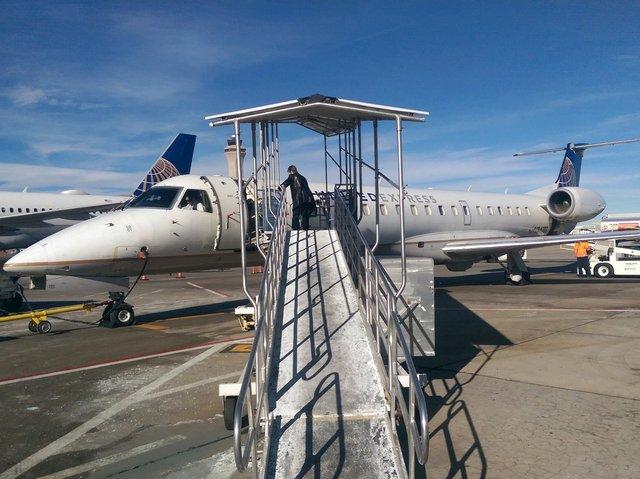 N34111 ERJ-145 on the ramp at DIA