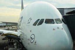 Lufthansa A380 at Frankfurt