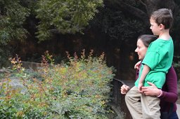 Aunt Bethany and Calvin at National Zoological Gardens, Delhi