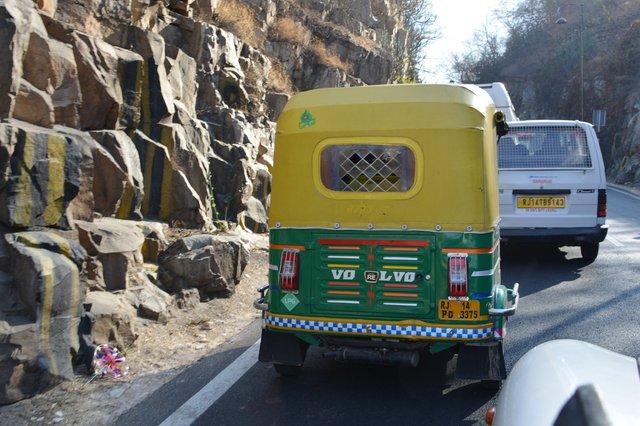 Auto rickshaw with a