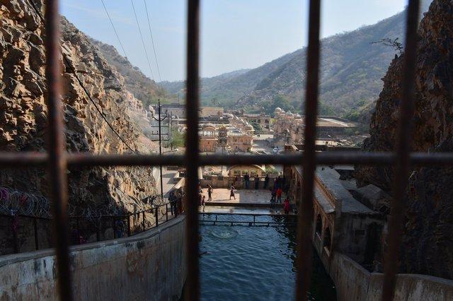 Human bathing pool at Galta-ji