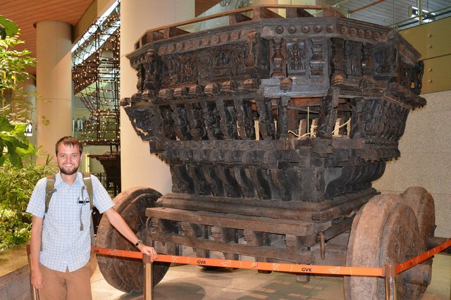 Willy with a rath (ceremonial chariot) at BOM