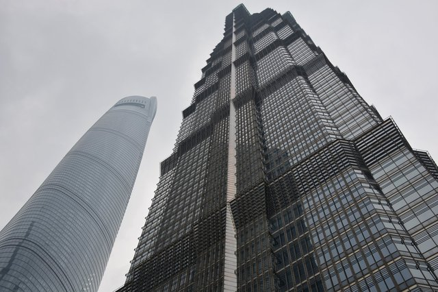 Shanghai Tower and Jin Mao Tower