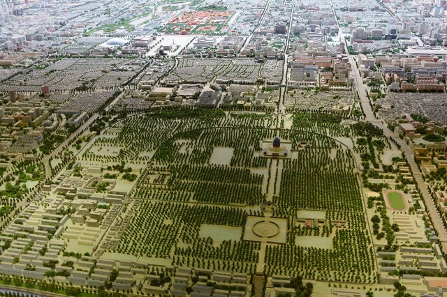 Central Beijing and the Temple of Heaven in a large scale model