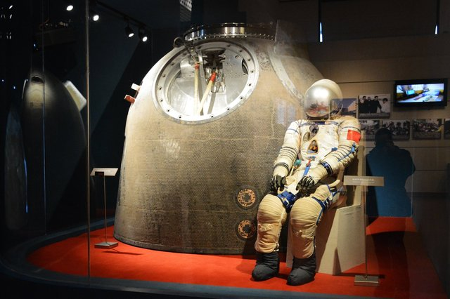 Shenzhou 5 spacecraft and Yang Liwei's spacesuit