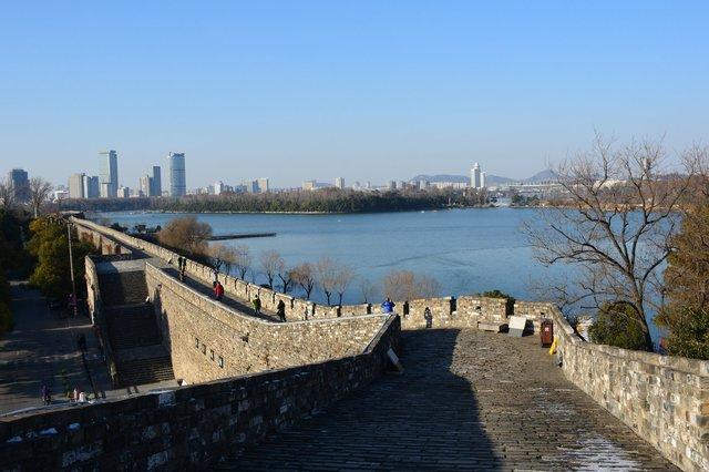 Nanjing city walls and Xuanwu Lake