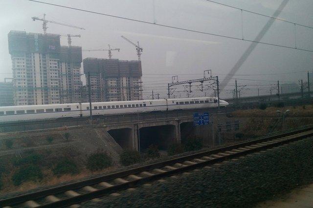 High-speed train on Beijing-Shanghai line
