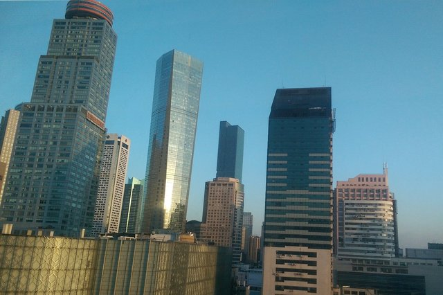 View of Nanjing from hotel window