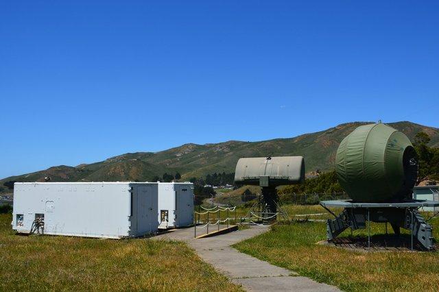 Radar domes at Nike missile site SF-88