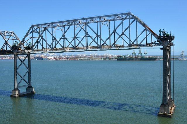 Old Bay Bridge being dismantled