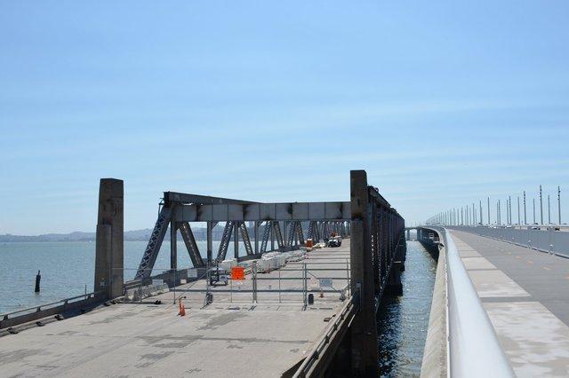 Old Bay Bridge next to the New Bay Bridge