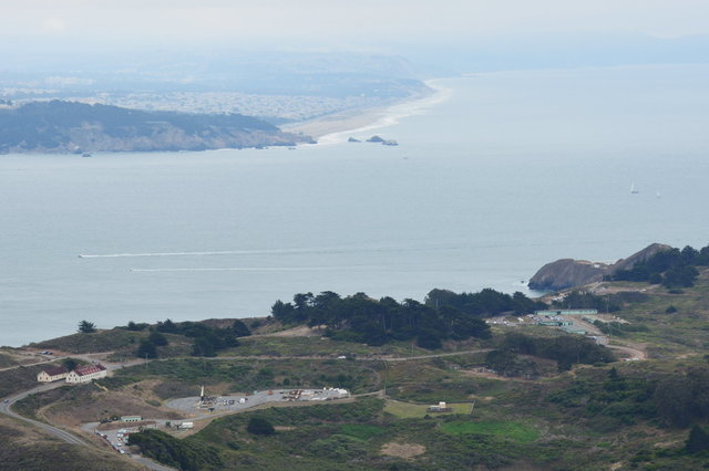Nike missile site SF-88L, the Golden Gate, and Ocean Beach
