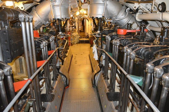 Engine room of HMS Alliance