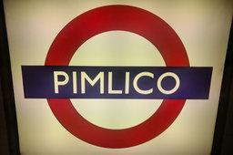 Roundel at Pimlico Underground Station