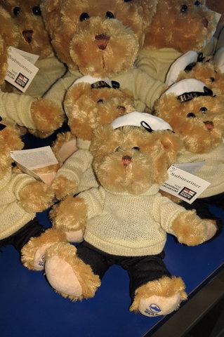 Royal Navy submariner bears at the National Submarine Museum
