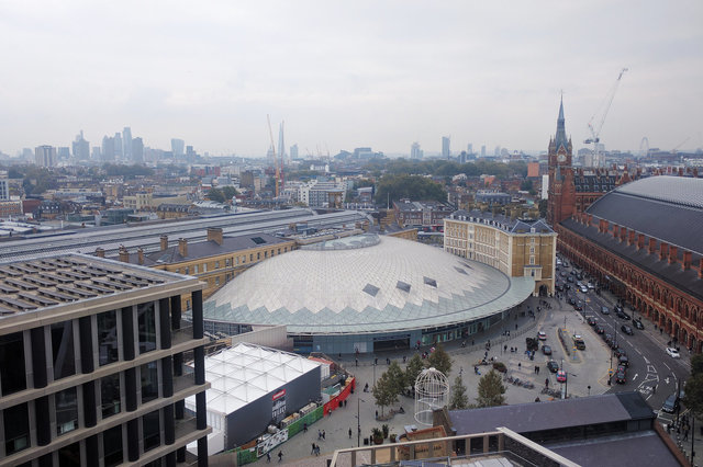 View of Kings Cross and St. Pancras from 6PS