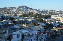View of Mount Davidson and Sutro Tower over Ingleside
