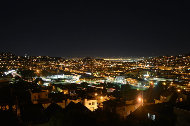 View from Louisburg at night