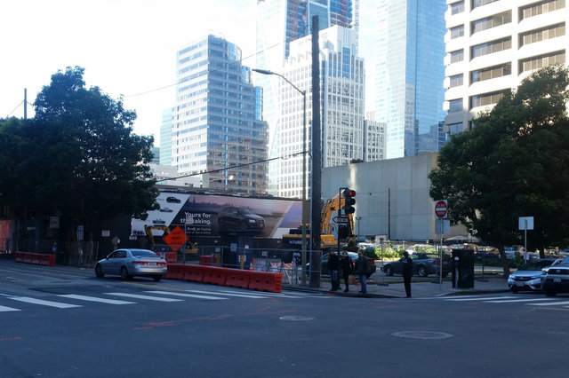 Construction underway at Folsom and Spear
