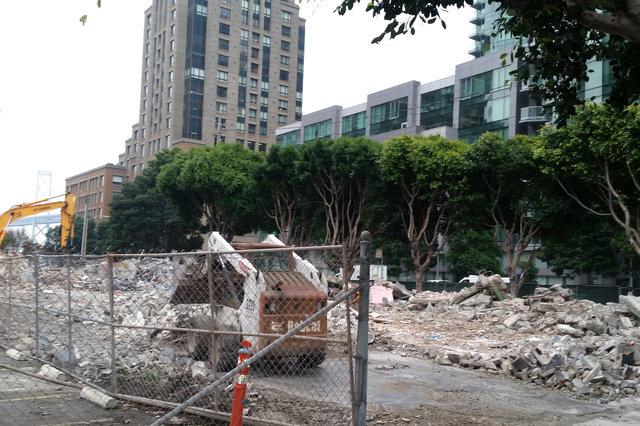 Demolition underway at Folsom and Spear
