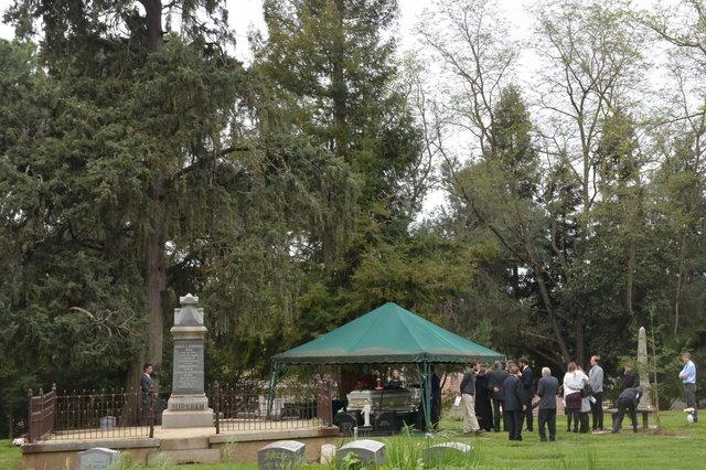 Grandma Logan's graveside service