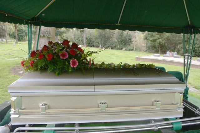 Grandma Logan's casket
