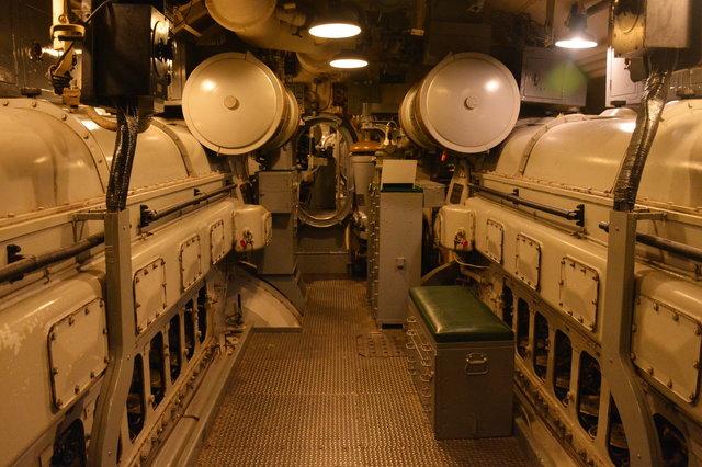 Engine room on USS Pampanito