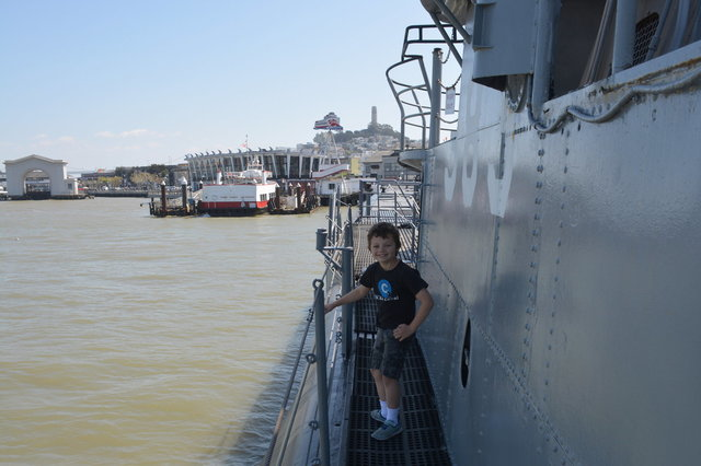 Calvin on deck of USS Pampanito