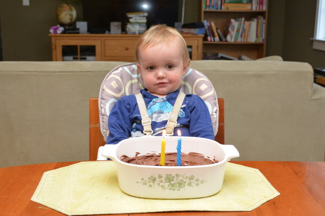 Julian with his birthday cake