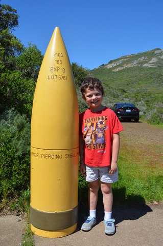 Calvin with a 16-inch armor-piercing shell