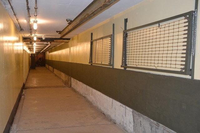 Main corridor inside Battery Townsley