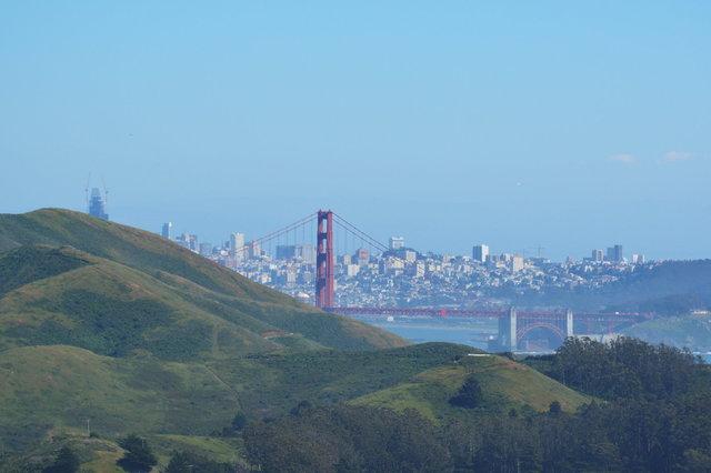 Golden Gate Bridge and San Francisco Skyline from the Marin Headlands