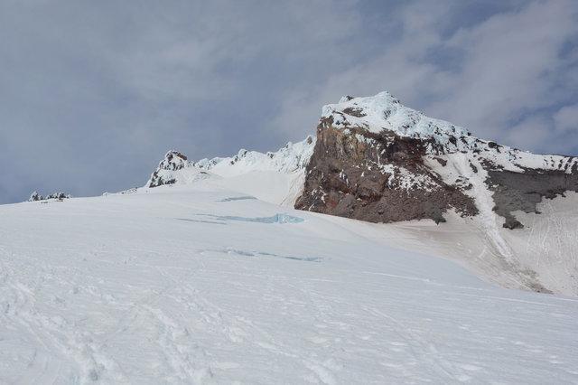 Cravasses below Steel Cliffs on Mount Hood
