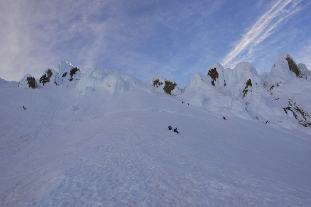 Bergshrund and Pearly Gates on Mount Hood