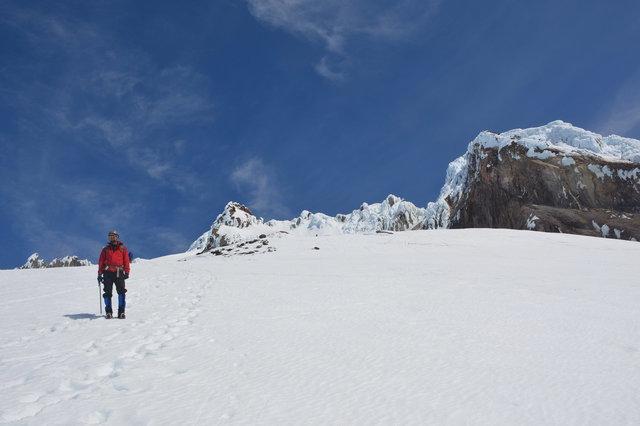 Willy descends Mount Hood