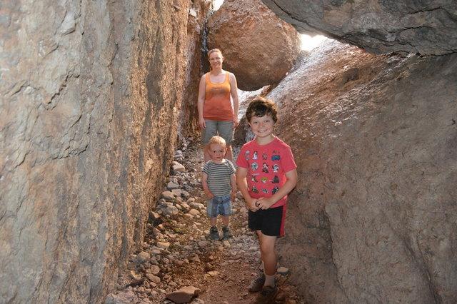 Kiesa, Julian, and Calvin in the Balconies Cave