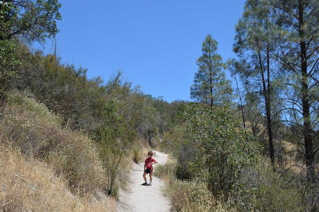 Calvin on the Balconies Cliffs Trail