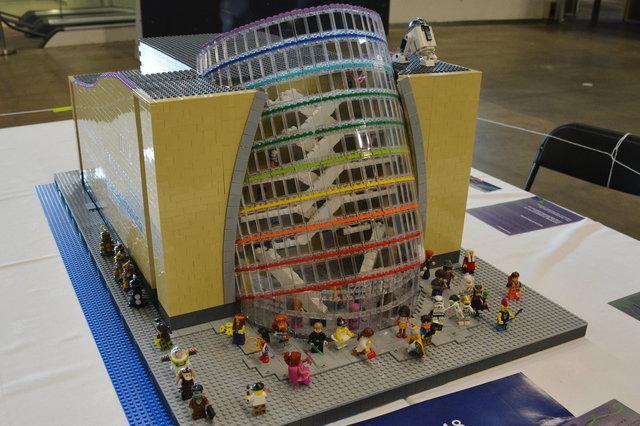 Lego model of the Convention Centre Dublin