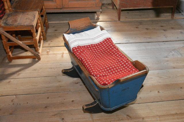 Baby cradle at Seurasaari Open-Air Museum